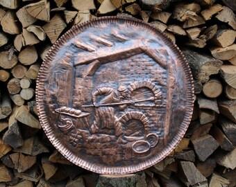 Baker Baker oven painting handmade copper
