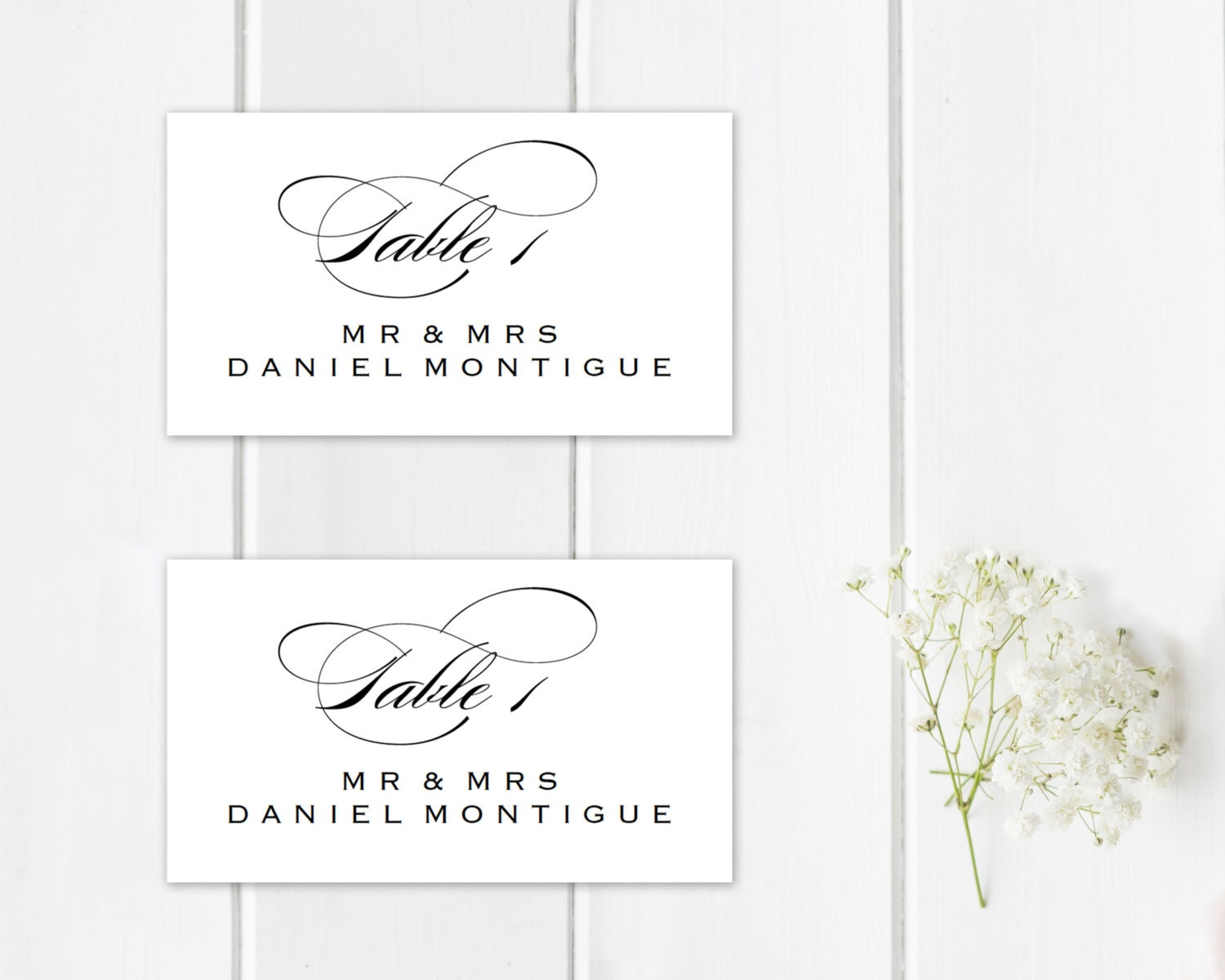 Decisive image inside printable place cards template