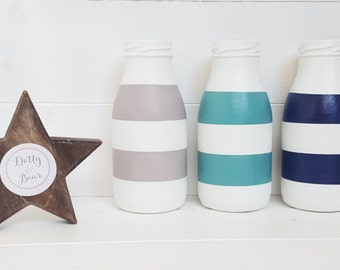 Striped Bottles - Made to order in a choice of colours and sizes