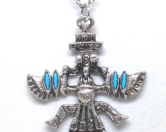 ExquIsite Vintage Figural Pendant and Necklace