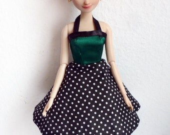 Anna Frozen Repaint Doll Disney Rockabilly Pinup Fashion OOAK