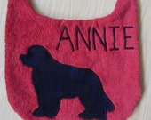 Personalized Newfoundland Dog Drool Bib With {Your DOG'S Name On Front} ...Absorbs amazingly!