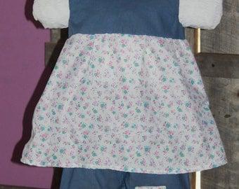 Blue and Pink Floral Infant Capri Set/Spring Summer Easter