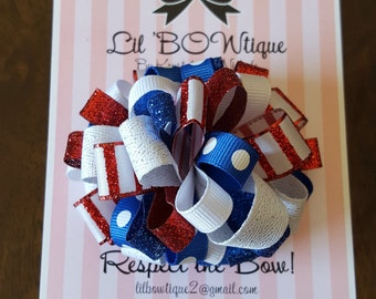 4th of July puffy bow