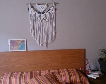 Chakras Macrame wall hanging . Chakras for home decoration . Skin boho chakras. Skin macrame with semiprecious stones
