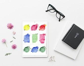 9 Affirmation Cards | Printable Inspirational Cards - Affirmation Cards - Gratitude Journal - Inspirational Print