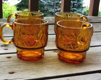 Amber Glass Mug Etsy