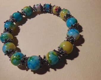 Bold blue and yellow bracelet