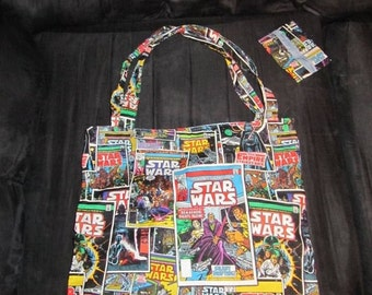 Star Wars Comic Book Tote Bag and Tissue Cover Set