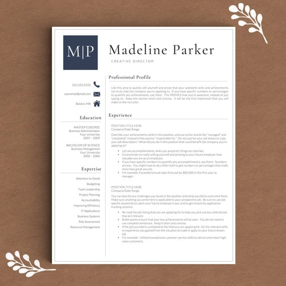 professional resume template for word  u0026 pages by thetemplatestudio
