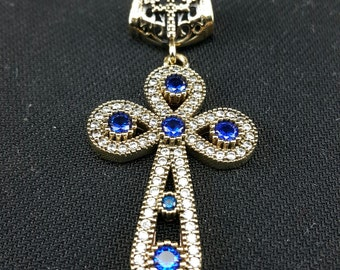 925 sterling Cross pendant, Christian jewelry, Speacial design, Made in Turkey