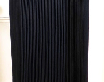 Vintage Karl Lagerfeld Long Pleated Skirt with Gold Buttons - Size 14 UK