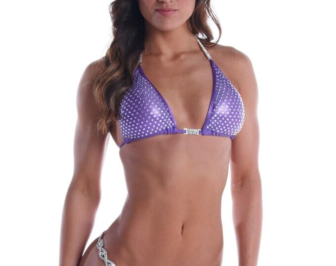 Violet Vixen - Purple Competition Bikini - Heavy Bling  (NPC, WBFF, OPA)