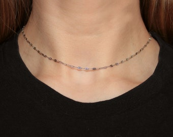 Delicate Choker - Stainless Steel layering