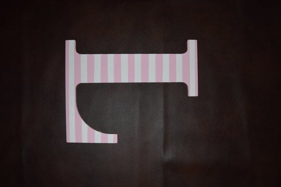 pink striped letter l door hanger girl wall hanging letter