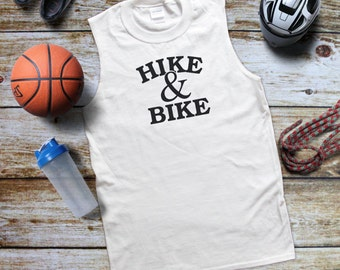 Hike and Bike Man'S Gym tank, Fitness t-shirt, Men's tank top, Workout Clothes, Workout, Workout Tank, Run Tank, Running Clothe for Men