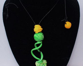 Unique Design, Handcrafted Necklace, Polymer Clay Necklace#rlabradorite #druzy #necklace #handmade #shareforshare #likeforlike #tagsforlikes
