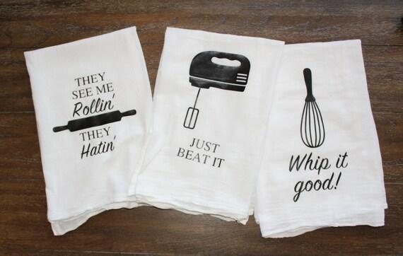 Funny Kitchen Towels- 3 Towels