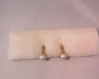clip on pearl and pastel stones
