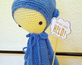 Lalylala, Oleg, Octopus, 50cm crochet doll
