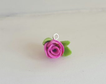 Roses Are Pink Clay Charm