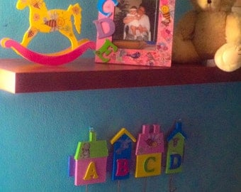 Wooden Baby Girl room decoration set -Melisa Bee
