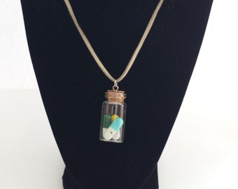 Message Pills in a Bottle Necklace (Set of 2)