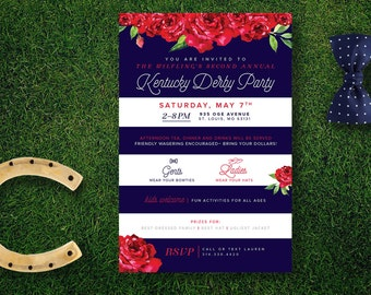 Kentucky Derby Invitations