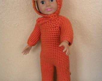 Orange cat costume/pajamas #D0016