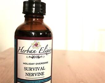 Survival Nervine 1oz 2oz 4oz available