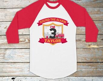 Firetruck Birthday Shirt - Personalized Boy Birthday Shirt - Fire Truck Birthday Shirt - Custom Birthday Shirt - Red firetruck Shirt