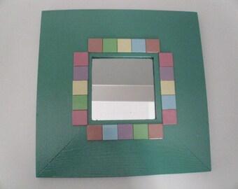 10'x10' Wood frame mirror