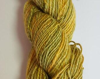 100 yards Hand spun yarn