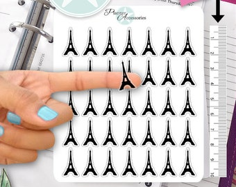Clear Paris Stickers Travel Stickers Planner Stickers Erin Condren Live Planner Functional Stickers Decal Sticker 381