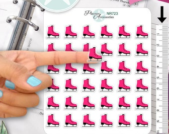 Clear Ice Skating Stickers Planner Stickers Erin Condren Functional Stickers Decorative Stickers NR723