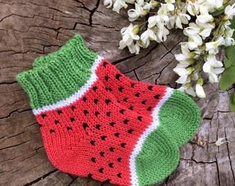Baby alpaca socks winter toddler socks newborn socks toddler gift kids gift watermelon birthday outfit girl birthday outfit 3 newborn props