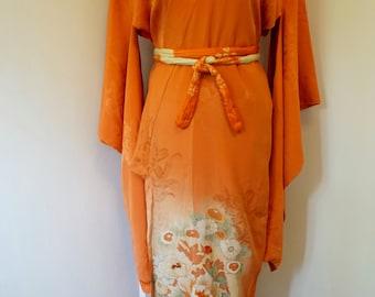 Antique 1920's Japanese Kimono / Vintage Kimono Robe / Kimono Wall Art