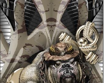 Marine Bulldog Armor Cornhole Wrap Bag Toss Decal Baggo Skin Sticker Wraps