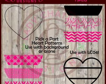 LC042 - Pick a Part Create a Heart Patterns SVG Designs