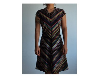 Vintage sz S colorful dress