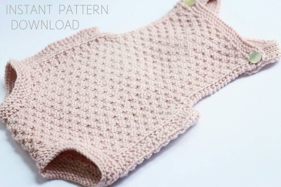 Baby Romper Knitting Pattern Mia Download Pdf