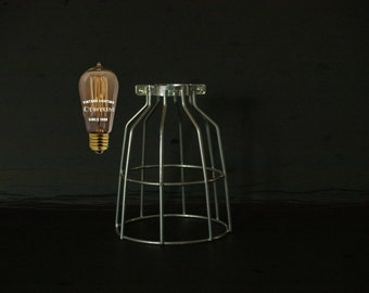 Quality Heavy Gauge Galvanized Bulb Cage, Industrial