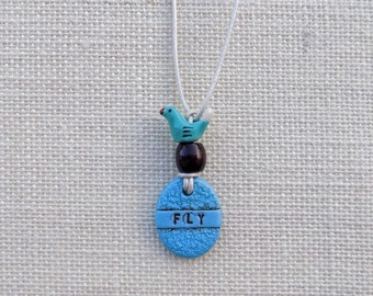 Fly Necklace, Bird Necklace, Fly Boho Necklace, Mothers Day Gift,  Inspirational Quote Necklace, Gift for Teen, Necklaces with words