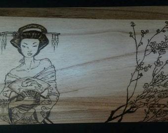 Japanese Geisha and Cherry Blossom box