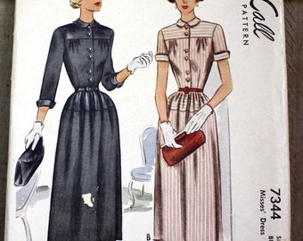 1940's Original Vintage Dress Sewing Pattern
