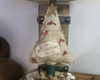 primitive Christmas tree make do, Christmas decoration, prim Christmas  tree, OFG, FAAP, Christmas shelf sitter, Oh Christmas Tree make do,