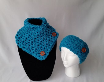 Neck Warmer Scarf and Adjustable Ear Warmer