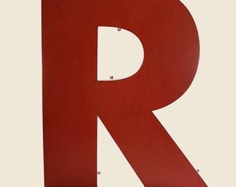 Vintage Giant Metal Letter R
