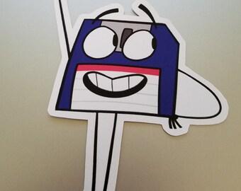 Floppy Disk Sticker