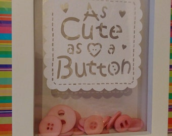 Cute as a button baby gift